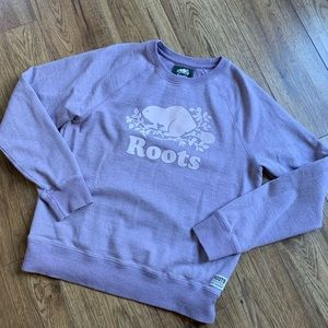 Roots light purple crew sweatshirt